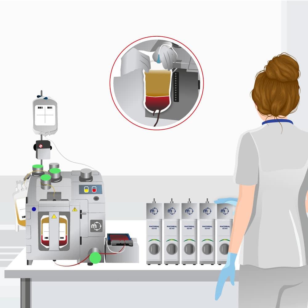 transfusion separation macopharma
